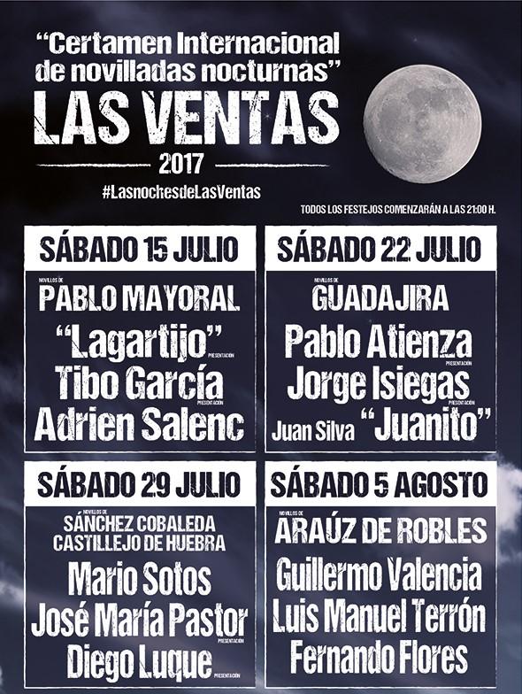 Night bullfights in Las Ventas.