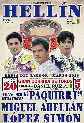 Bullfighting in Hellin. Tickets on sale