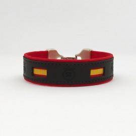 Pulsera de tela de muleta y bandera de España