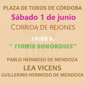 01/06 Córdoba (19:00) Rejones