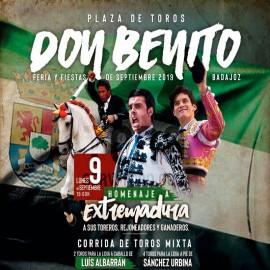 09/09 Don Benito (19:00) Toros mixta