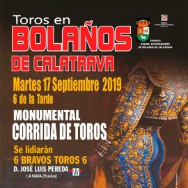 17/09 Bolaños de Calatrava (18:00) Toros. PICK UP IN BULLRING.