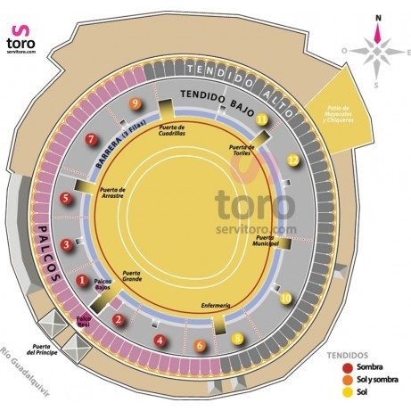Bullfight tickets Sevilla October 12th