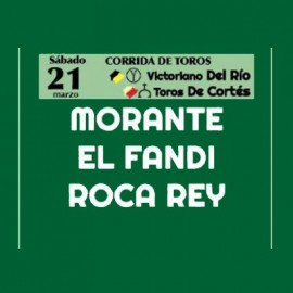 21/03 Castellón (17:00) Toros