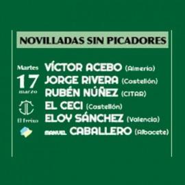 17/03 Castellón (17:00) Novillos sin