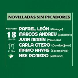 18/03 Castellón (17:00) Novillos sin