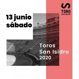 13/06 San Isidro (19:00) Toros