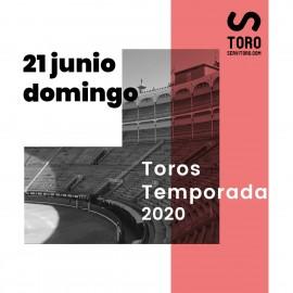 21/06 Madrid (19:00) Toros