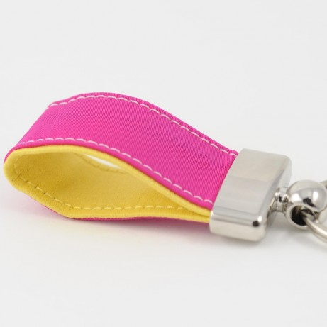 Key Ring Capote Pink and yellow