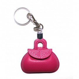 Key Ring mini pink bag