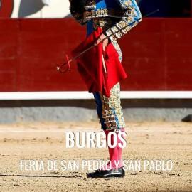 Entradas Toros Burgos - Feria San Pedro y San Pablo