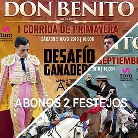 Abono Toros Don Benito (Mayo y Sep) 2 festejos