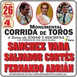 26/01 Ajalvir (16:00) Toros. RECOGER EN TAQUILLA.