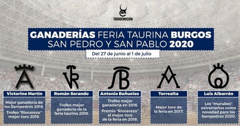 Burgos bullfighting fair 2020