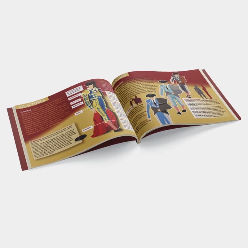 Toro book. bullfight spectacle