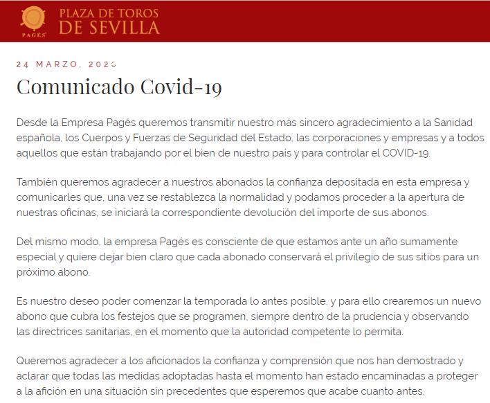Sevilla bullring