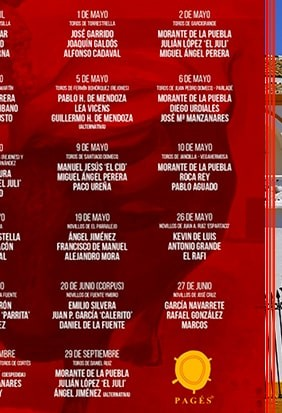 The official 2019 bullfighting schedule for Seville