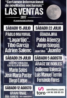 Toros en Las Ventas, Certamen en Julio y Agosto