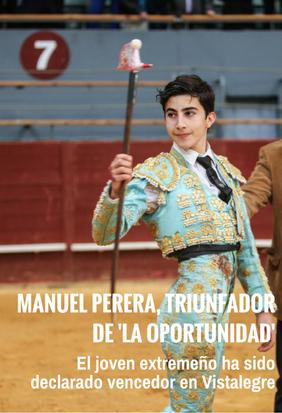 Manuel Perera, triunfador de 'La Oportunidad'