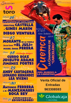 Buy now your bullfight Ticket to Cuenca. Tickets on sale!