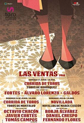 Festejos taurinos Las Ventas Junio y Julio.