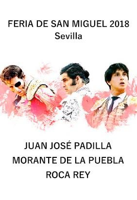 Juan José Padilla - Morante -Roca Rey ¡Cartel de lujo!