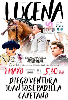 Great bullfight in Lucena, Córdona.