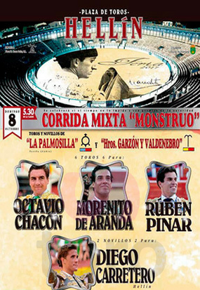 Buy tickets see bullfight in Hellín, Albacete.