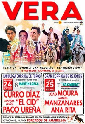 Feria taurina en honor a San cleofás en Vera 2017
