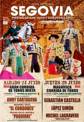 Buy the bullfight tickets to see the best bullfighters on the Arena!! Segovia 2017