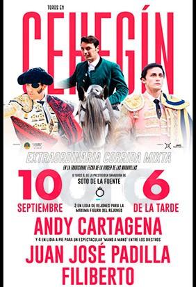 Buy your bullfight tickets here! Cehegin (Murcia)