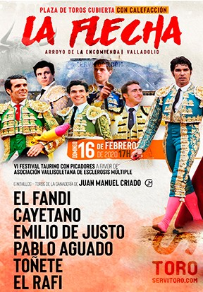 Get tickets now to see Live bulls in la Flecha bullring.