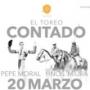 Pepe Moral y los hermanos Miura, protagonistas en El Toreo Contado