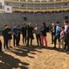Morante de la Puebla y Paco Ureña con los alumnos de la Escuela de Madrid